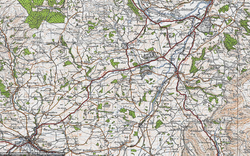 Old Map of Historic Map covering Allt Filo in 1947