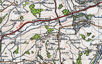Old map of Allt Filo in 1947