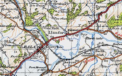 Old map of Y Gloig in 1947