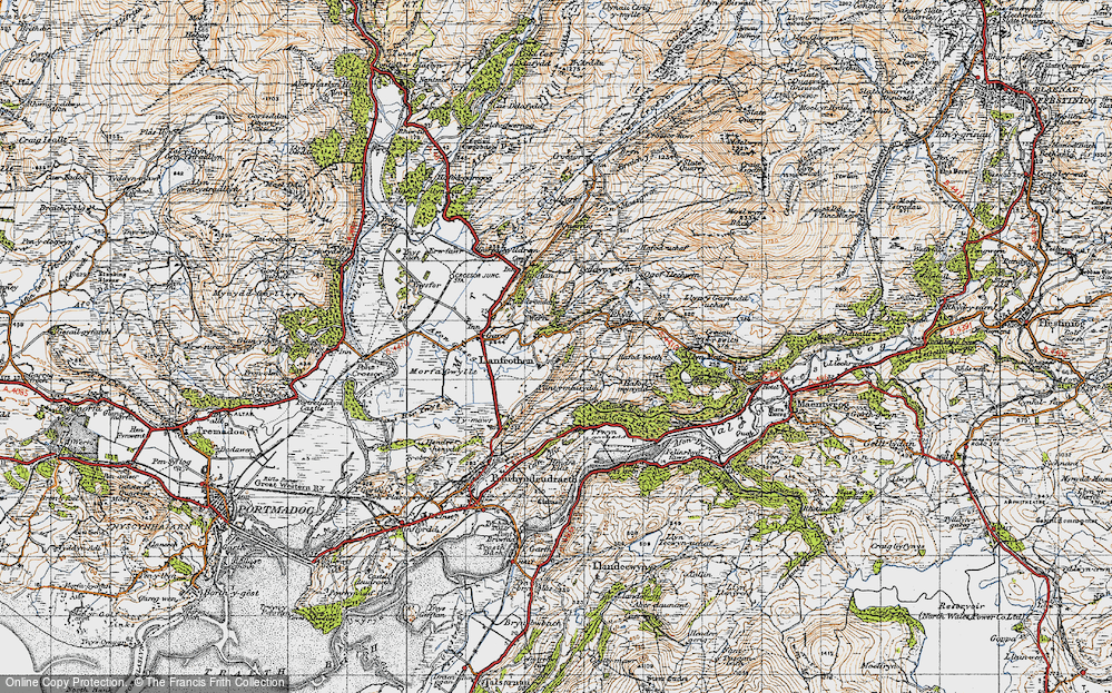 Old Map of Llanfrothen, 1947 in 1947