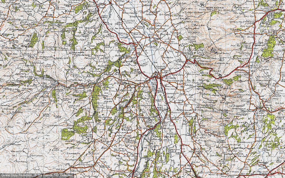 Old Map of Llanfwrog, 1947 in 1947