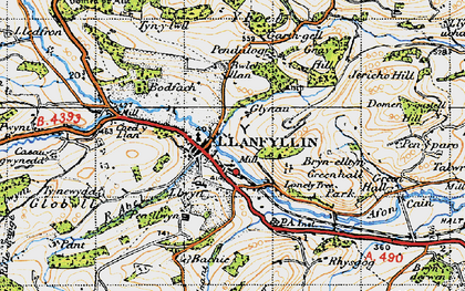 Old map of Bachie Ganol in 1947