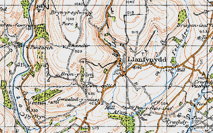 Old map of Allt Enoch in 1947