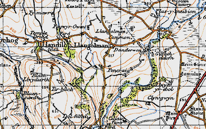 Old map of Alltypistyll in 1946