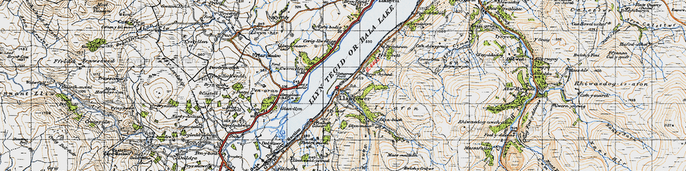 Old map of Tomen y Bala in 1947