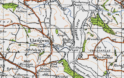 Old map of Llangwm in 1946
