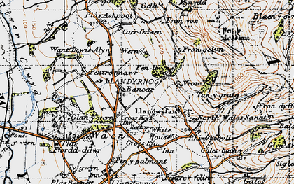 Old map of Bancar in 1947