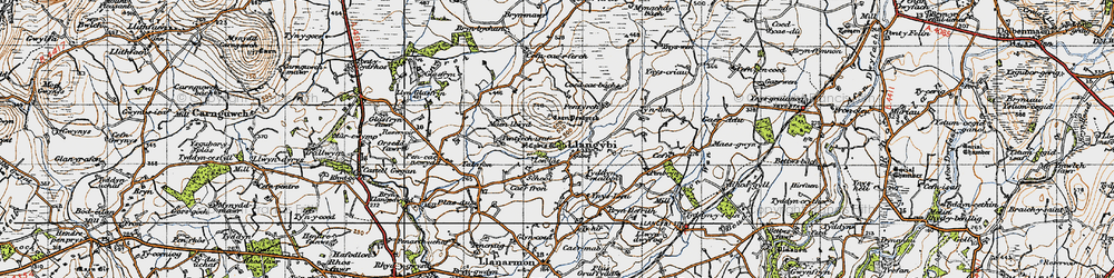 Old map of Ynys Creud in 1947
