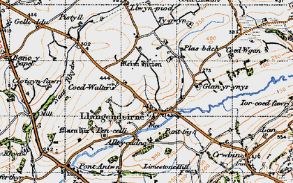 Old map of Alltycadno in 1946
