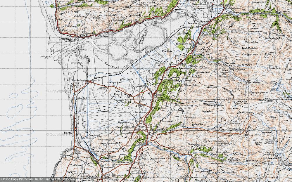Old Map of Llangynfelyn, 1947 in 1947