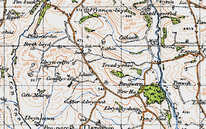 Old map of Bank y llain in 1946
