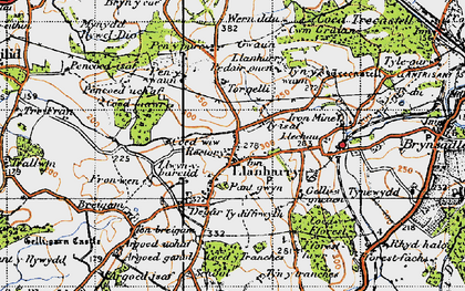 Old map of Llanharry in 1947