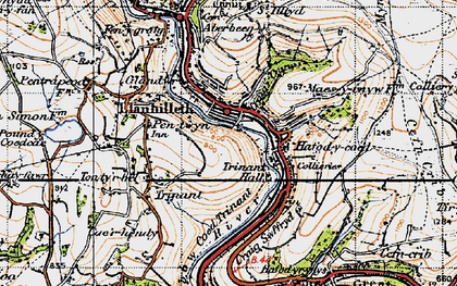 Old map of Llanhilleth in 1947