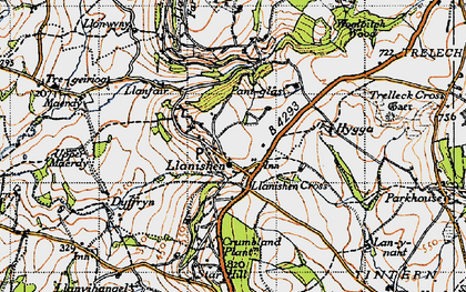 Old map of Woolpitch Wood in 1946