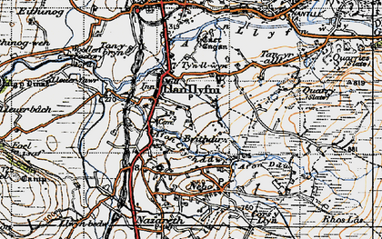Old map of Llanllyfni in 1947
