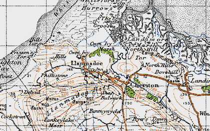 Old map of Whiteford Sands in 1946