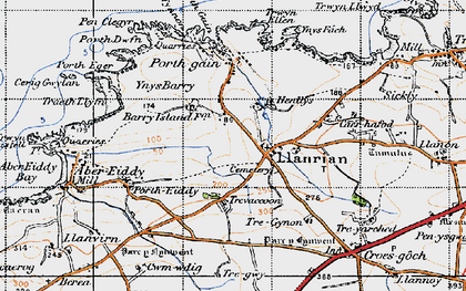 Old map of Llanrhian in 1946