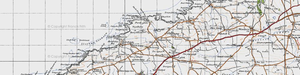 Old map of Llanrhian in 1946
