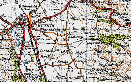 Old map of Bacheirig in 1947