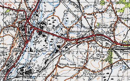 Old map of Llansamlet in 1947