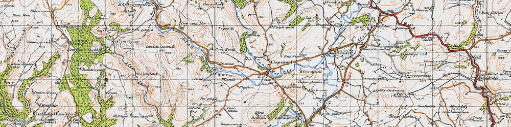 Old map of Wion in 1947
