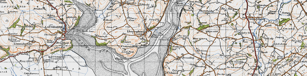 Old map of Wharley Point in 1946