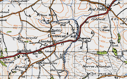 Old map of Ledgerland in 1946