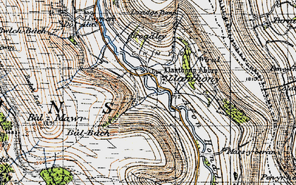 Old map of Bâl-Mawr in 1947