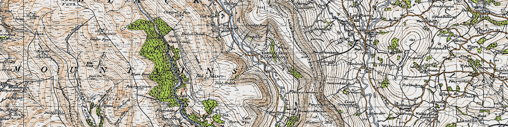 Old map of Wiral in 1947