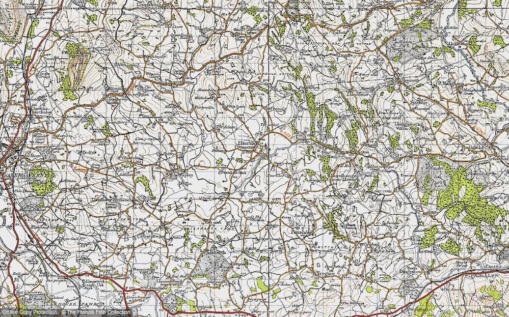 Old Map of Llantilio Crossenny, 1947 in 1947