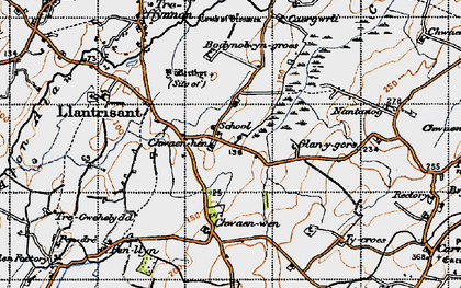 Old map of Llantrisant in 1947
