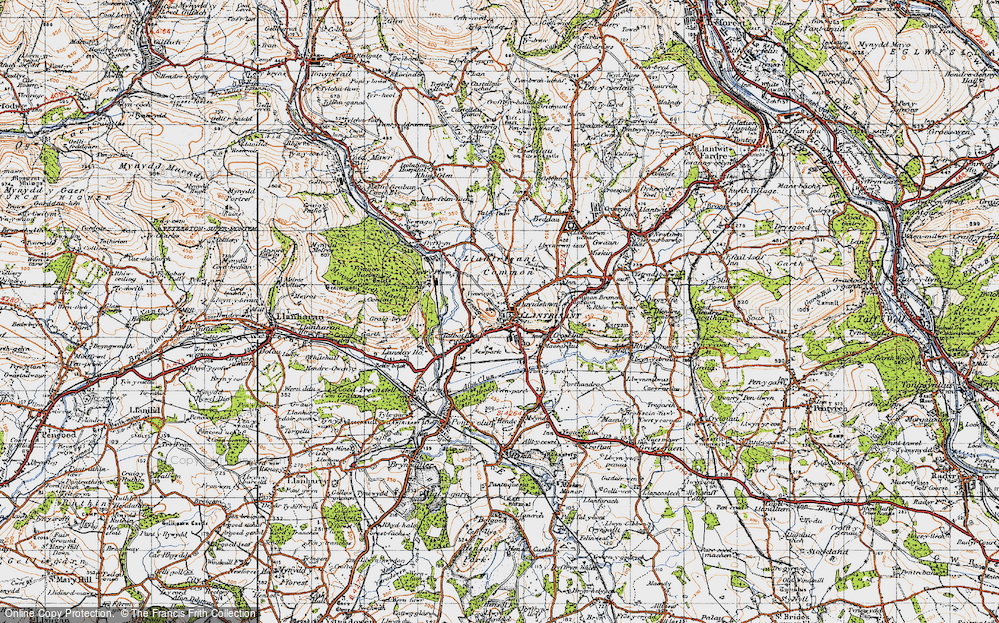 Old Map of Llantrisant, 1947 in 1947