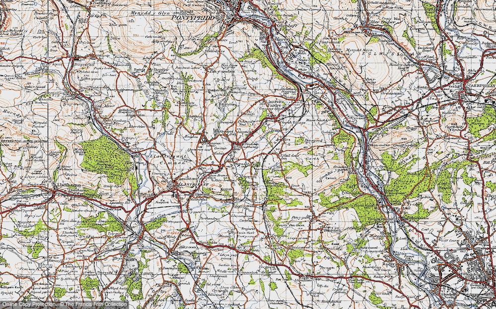 Old Map of Llantwit Fardre, 1947 in 1947