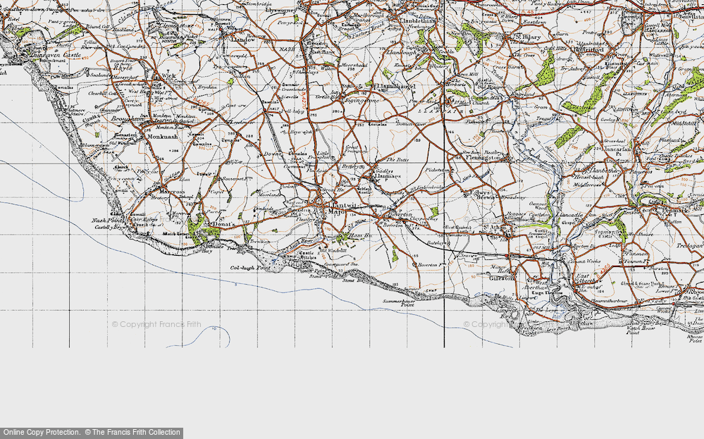 Old Map of Llantwit Major, 1947 in 1947