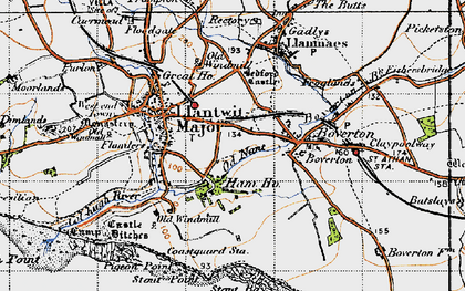 Old map of Llantwit Major in 1947