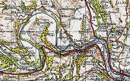 Old map of Llantysilio in 1947