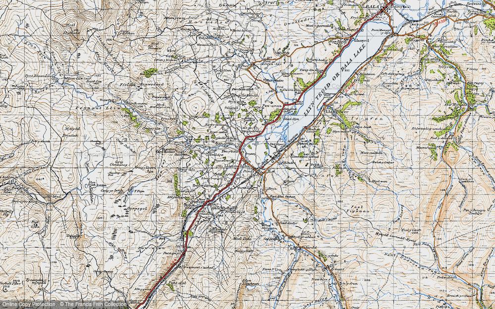 Old Map of Llanuwchllyn, 1947 in 1947