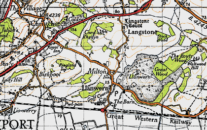 Old map of Llanwern in 1946