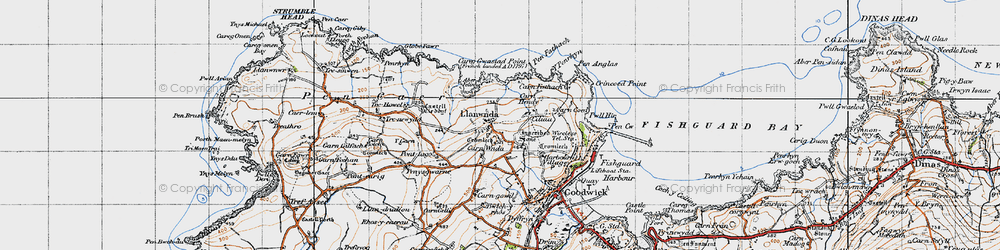 Old map of Y Globa Fawr in 1947
