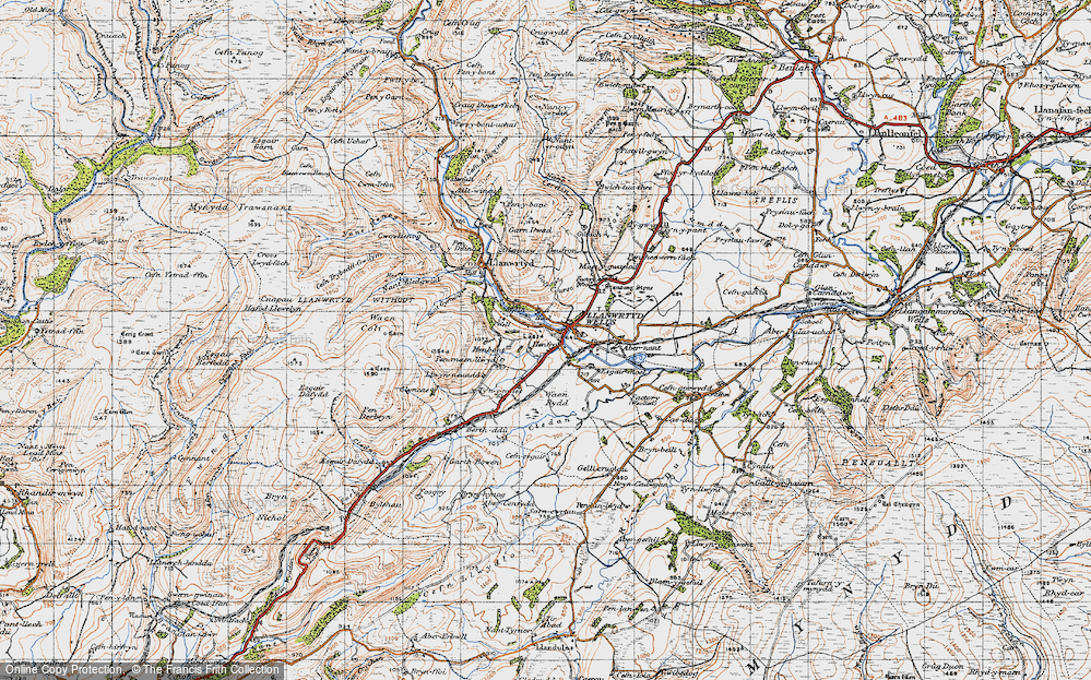 Old Map of Llanwrtyd Wells, 1947 in 1947
