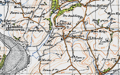 Old map of Laques in 1946