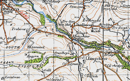 Old map of Llanychaer in 1947