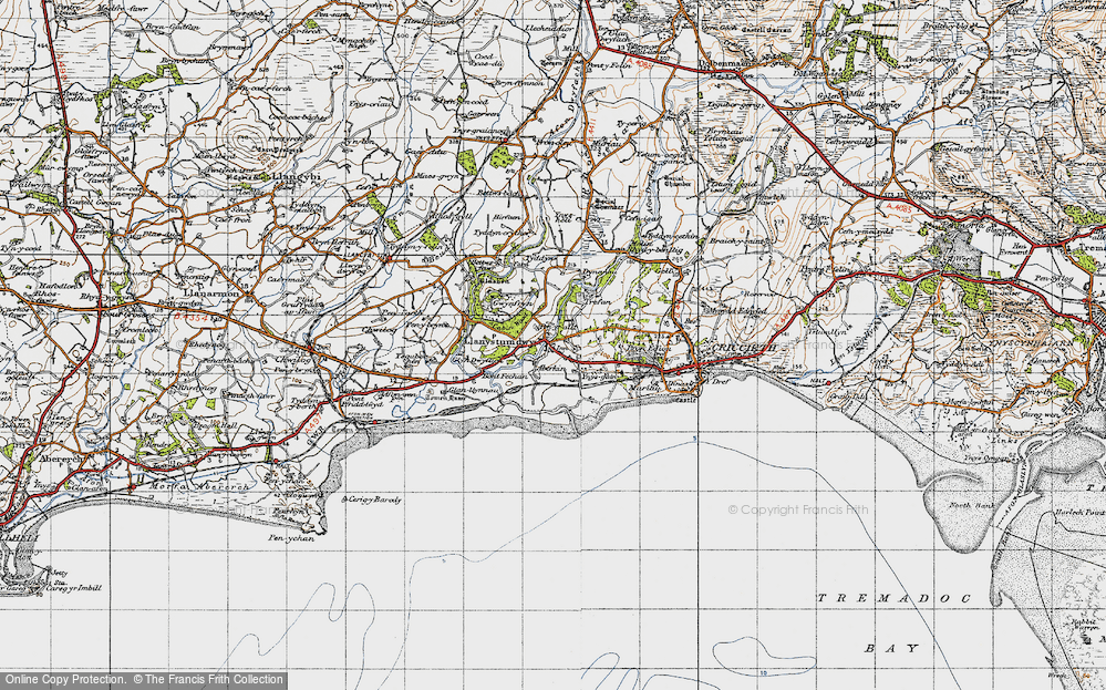 Old Map of Historic Map covering Aberkin in 1947