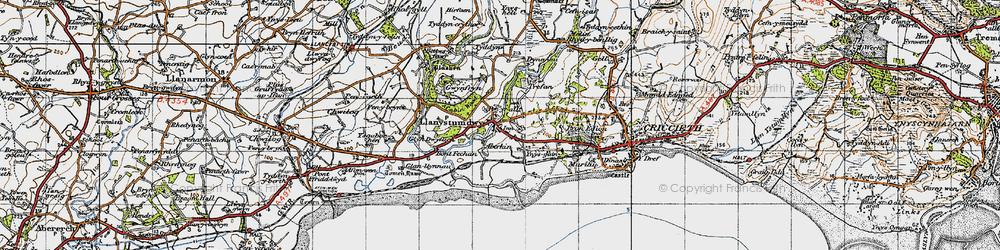 Old map of Aberkin in 1947