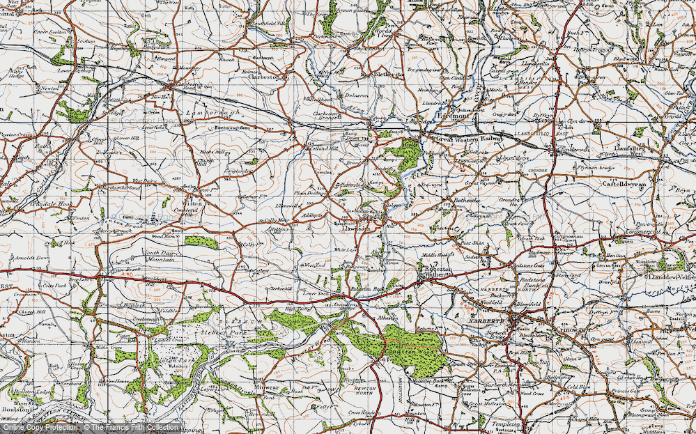Old Map of Historic Map covering Addlepits in 1946