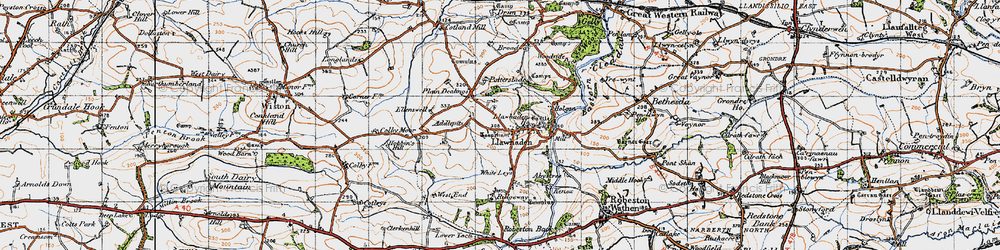 Old map of Addlepits in 1946