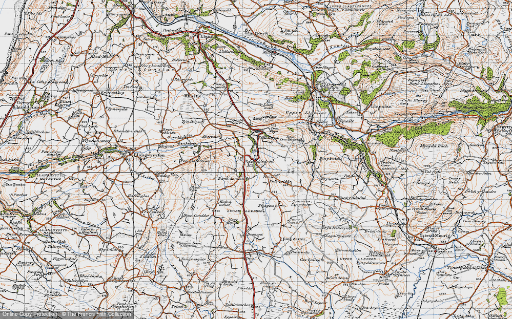Old Map of Lledrod, 1947 in 1947