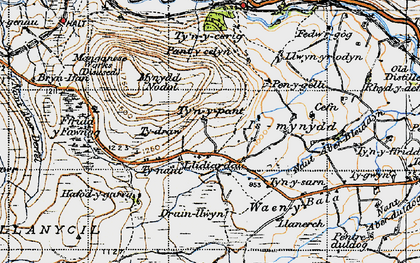 Old map of Aberderfel in 1947