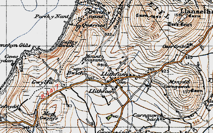Old map of Llithfaen in 1947