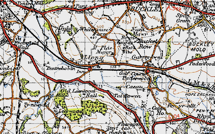 Old map of Leeswood Hall in 1947